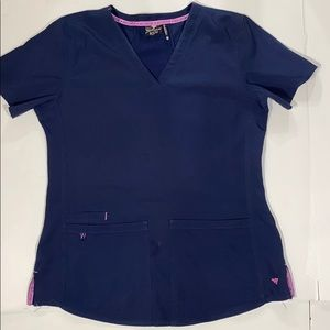 Women's Navy Scrub Top Med Couture Med. Medical